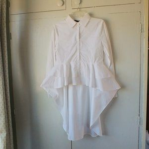 Walter Baker White Caroline Top High/Low Hem NWT